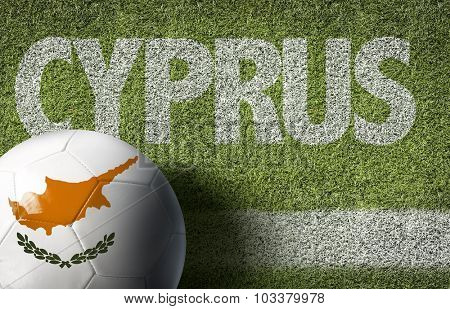 Cyprus Ball in a Soccer field