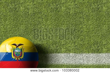 Ecuador Ball in a Soccer field