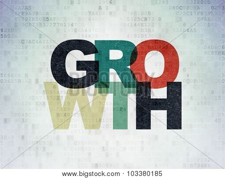 Business concept: Growth on Digital Paper background
