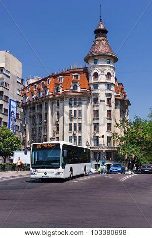 Public Bus In Bucharest Romania