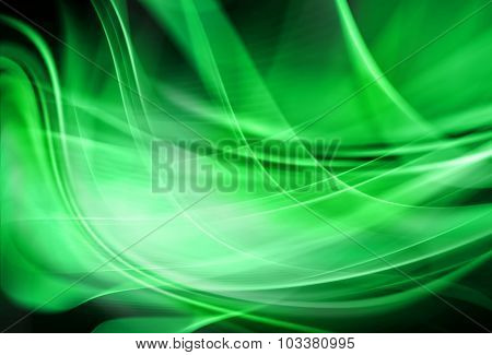 Beautiful gentle green abstract background with elements of blur and smooth lines