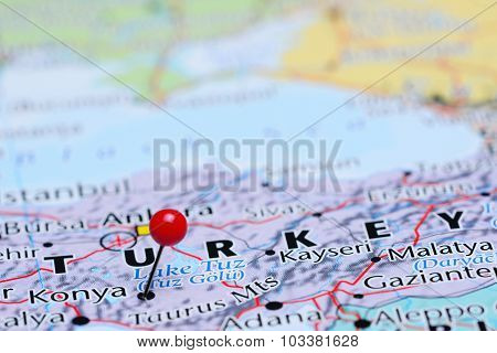 Konya pinned on a map of Asia