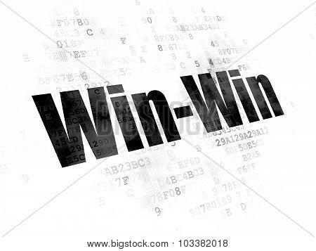 Finance concept: Win-Win on Digital background