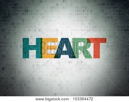 Health concept: Heart on Digital Paper background