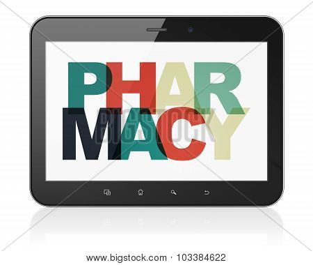 Healthcare concept: Tablet Computer with Pharmacy on  display