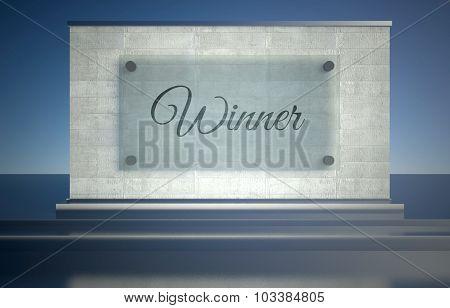 First Place Podium Pedestal Symbol Of Winning