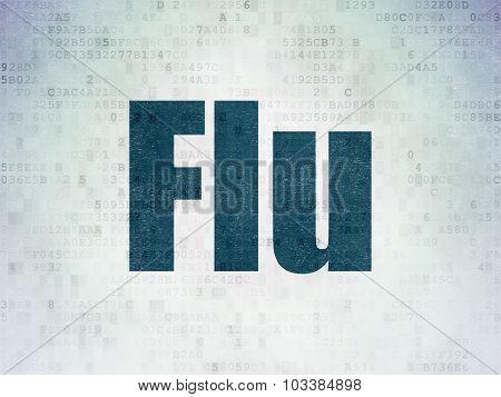 Healthcare concept: Flu on Digital Paper background