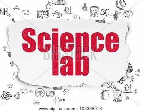 Science concept: Science Lab on Torn Paper background