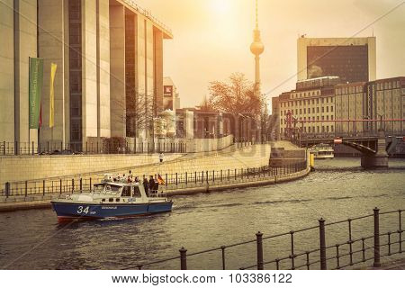 BERLIN, Germany - MARCH 28, 2015: Berlin is a very popular touristic destination in Europe.