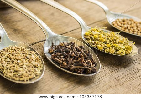 Spices and herbal tea ingredients