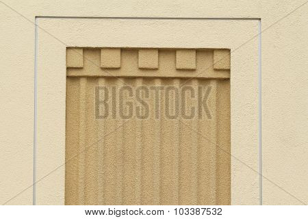 Exterior building wall detail