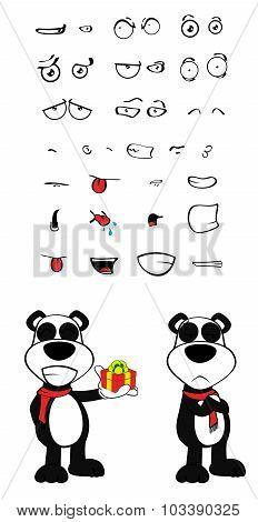 gift teddy panda bear cartoon emotions set