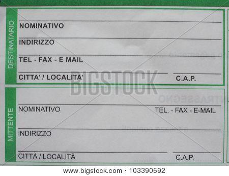 Italian Mail Form
