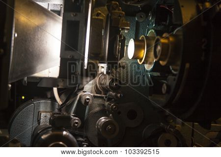 35mm Film Projector Lens & Gears