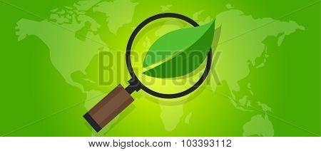 ecology eco friendly world map green leaf symbol environment
