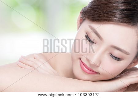 Charming Woman Smile Enjoy Spa