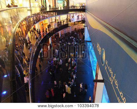 Aquarium at Dubai Mall in Dubai, UAE