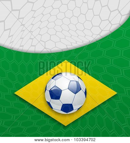 Abstract brazilian background with ball