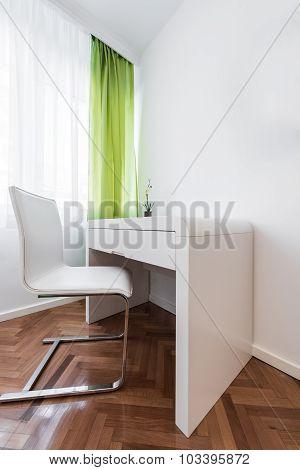 Study desk in room