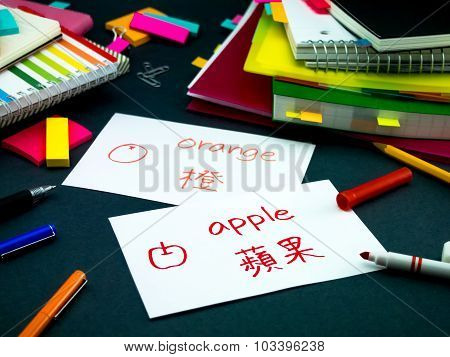 Learning New Language Making Original Flash Cards; Mandarin