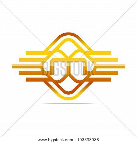 Logo all sales Letter M abstract symbol