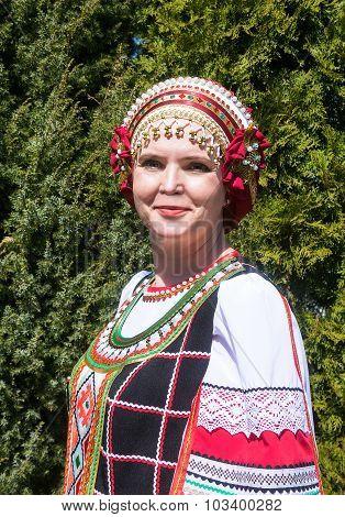 Portrait Of Woman In Russian Folk-dress