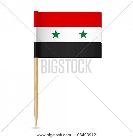 Syria flag. Flag toothpick.