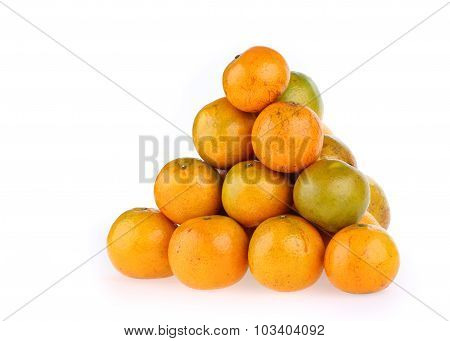 Oranges Fruit Tropical Isolated On White Background