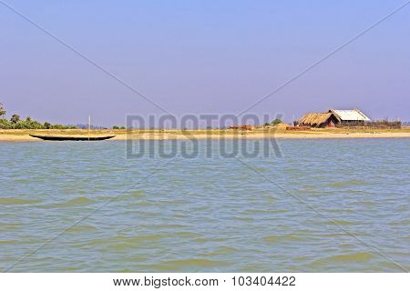 Fishing Hut And Boat