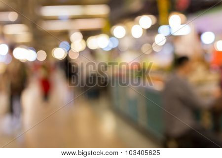 Store Shopping Mall Image Blur Defocused Background