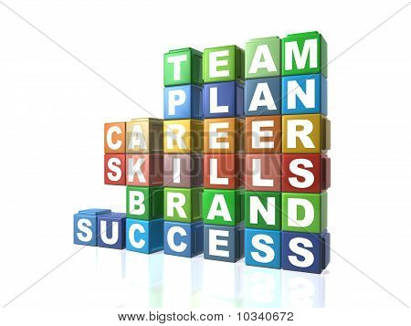 Multi Colour Building Blocks Spelling Out Business Words