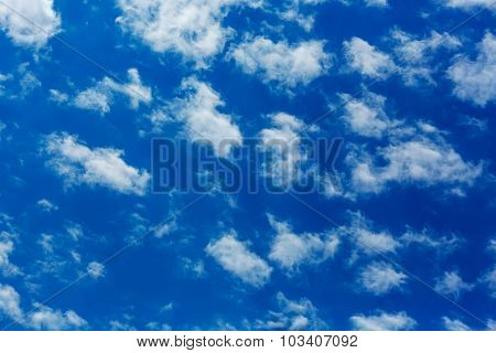 Peaceful white clouds