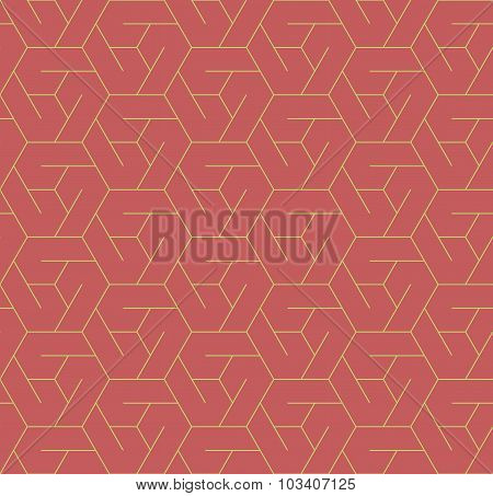 Geometric Seamless Pattern Background With Line And Hexagon.