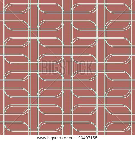 Geometric Seamless Pattern Background With Line And Round Corner Rectangle.