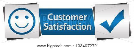 Customer Satisfaction Blue Grey Horizontal