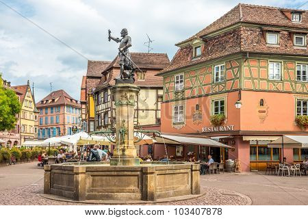 In The Old Town Of Colmar