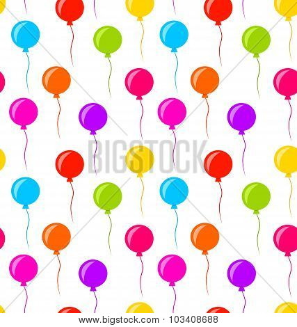 Seamless Texture Multicolored Balloons for Party