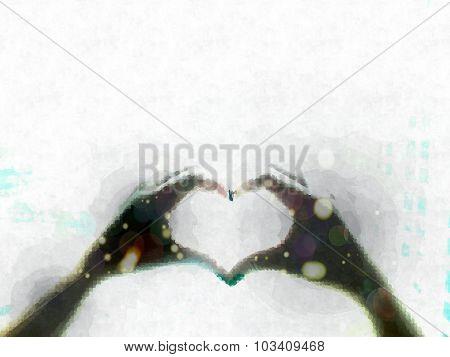 Hands Shape a Heart