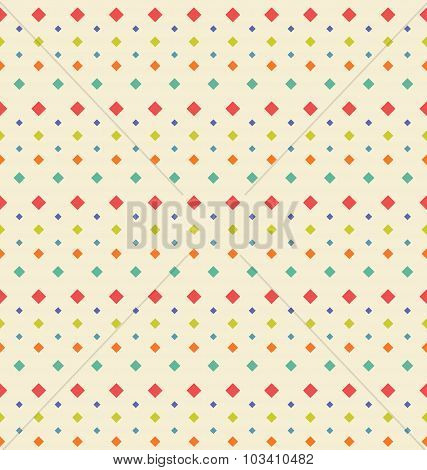 Seamless Geometric Texture with Rhombus, Vintage Periodic Backgr