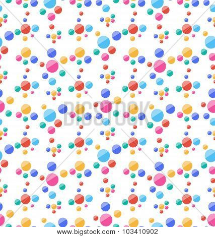 Seamless Pattern with Colorful Circles, Party Background