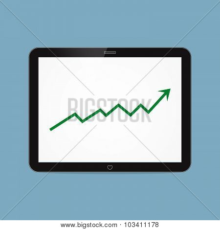 Stock Raise Up High With Tablet