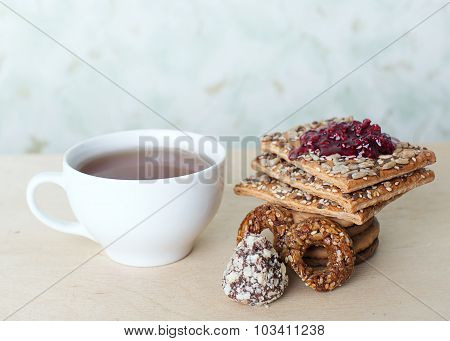 Cup Of Tea And Sweets