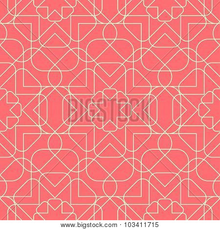 Geometric Seamless Pattern Background.