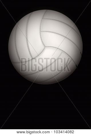 Dark Background of volleyball ball. Vector Illustration.