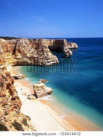 Praia da Marina Beach, Portugal.