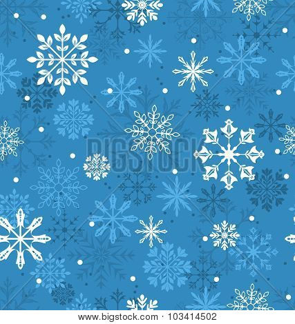 Seamless Texture with Variation Snowflakes