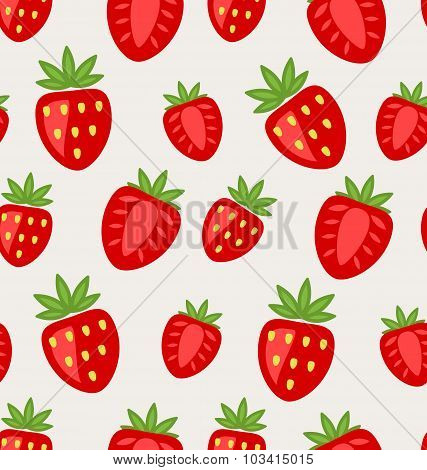 Seamless Texture of Ripe Strawberry