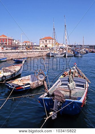 Fishing boats in harbour, Portimao.
