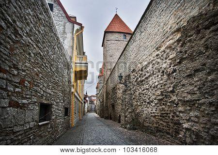 Narrow street in Old Tallinn