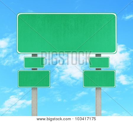 Road Sign. Pointer On The Against The Sky